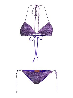 Missoni tonal metallic 2-piece triangle bikini set