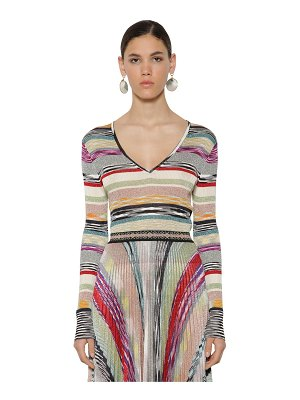 Missoni V neck light ribbed knit sweater