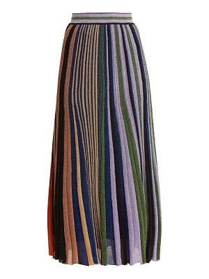 Missoni Vertical striped pleated skirt