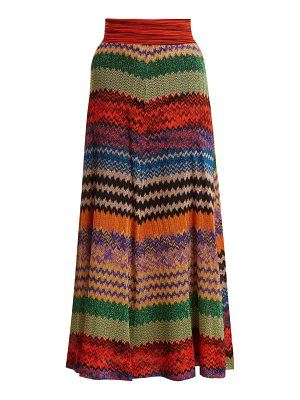 Missoni Zigzag-striped knit midi skirt