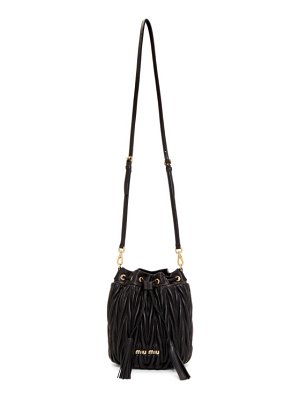 Miu Miu black quilted bucket bag