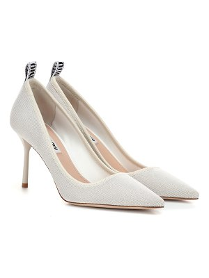 Miu Miu canvas pumps
