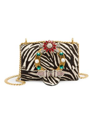 Miu Miu cavallino calf hair & leather embellished crossbody bag