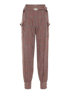 Miu Miu checked wool-blend trousers