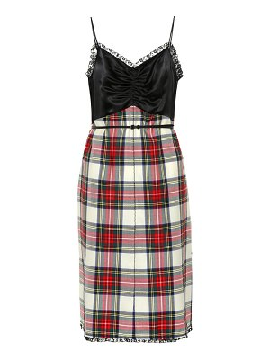 Miu Miu checked wool minidress