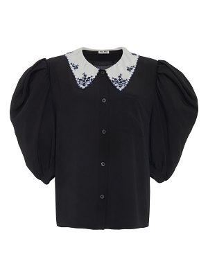 Miu Miu contrast button down top