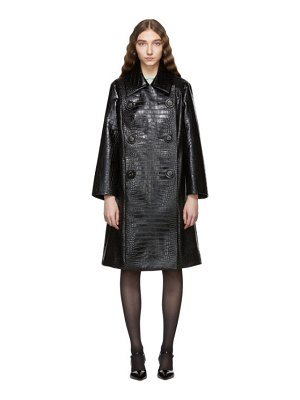 Miu Miu Croc Leather Double-Breasted Trench Coat