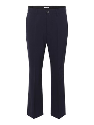 Miu Miu cropped stretch-wool trousers