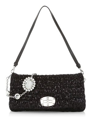 Miu Miu crystal embellished shoulder bag