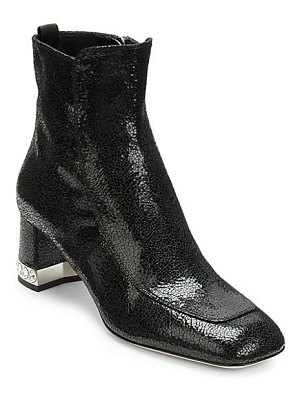 Miu Miu crystal heel leather booties