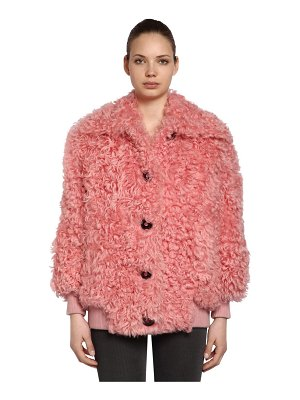 Miu Miu Curly shearling bomber jacket