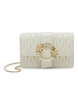 Miu Miu embellished matelassé leather clutch
