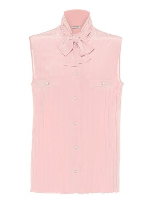 Miu Miu embellished silk top