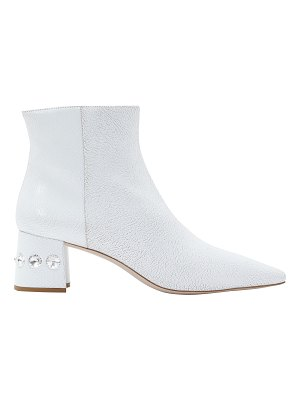 Miu Miu Embossed leather ankle boots
