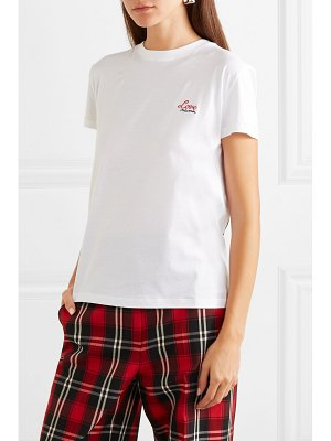 Miu Miu embroidered printed cotton t-shirt