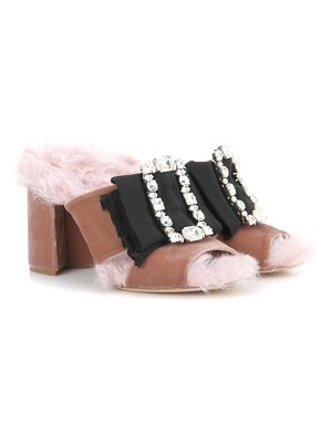 Miu Miu embellished open-toe sandals