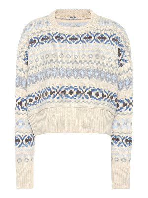 Miu Miu fair isle wool sweater