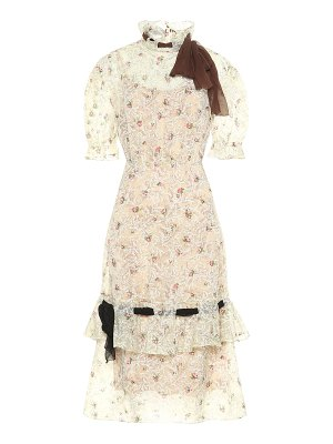 Miu Miu floral organza midi dress
