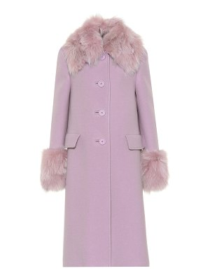 Miu Miu fur-trimmed wool and angora coat