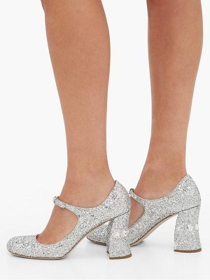 Miu Miu glitter crystal embellished pumps