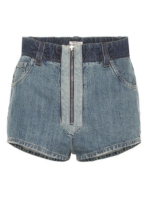 Miu Miu high-rise denim shorts