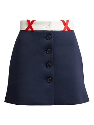 Miu Miu jersey mini skirt