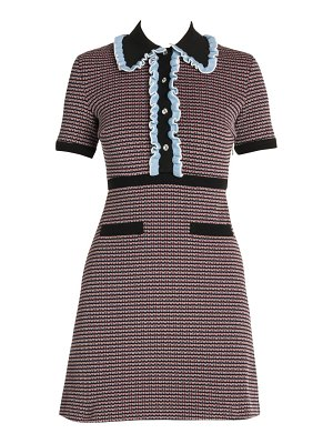 Miu Miu jersey tweed polo dress