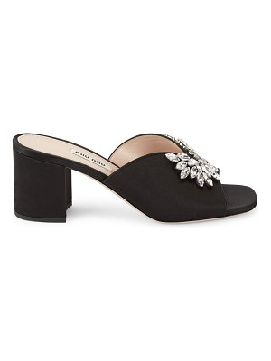 Miu Miu jewelled satin mules