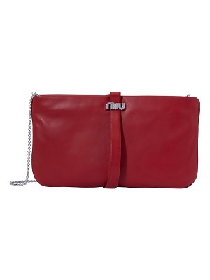 Miu Miu Leather Miu clutch