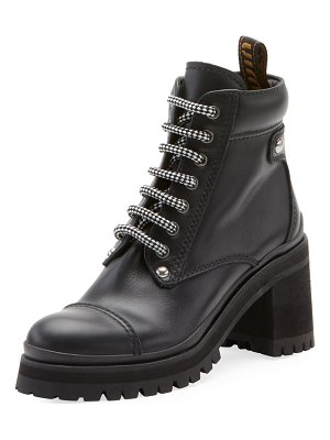 Miu Miu Leather Platform Hiker Boots