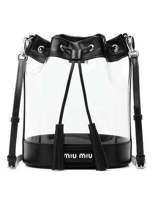 Miu Miu leather-trimmed pvc bucket bag