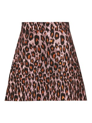 Miu Miu leopard-brocade mini skirt