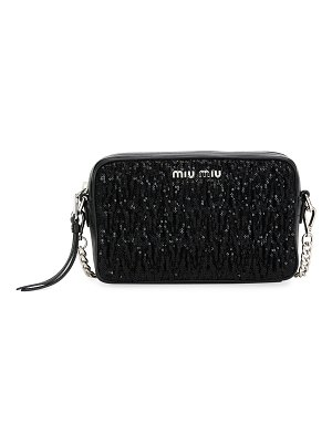 Miu Miu Matelassé and Sequin Camera Crossbody Bag