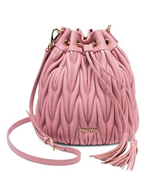 Miu Miu metalassé leather bucket bag