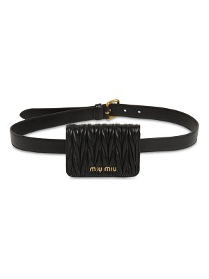 Miu Miu Mini quilted leather belt bag