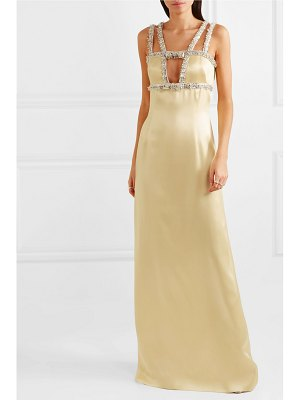 Miu Miu open-back embellished satin gown