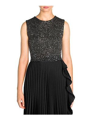 Miu Miu paiette wool-blend embellished crop top