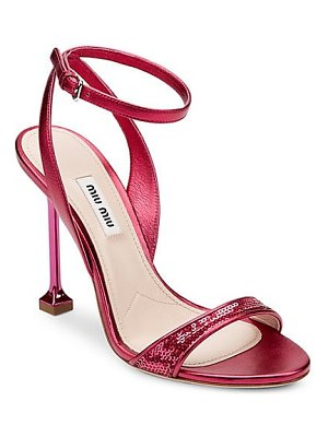 Miu Miu pailette high-heel sandals