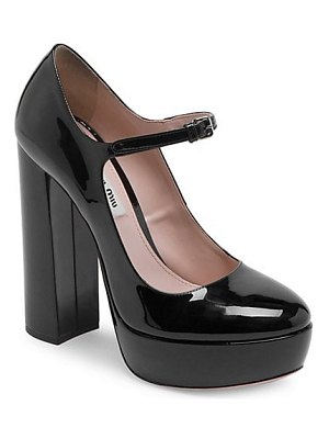 Miu Miu patent platform mary jane pumps