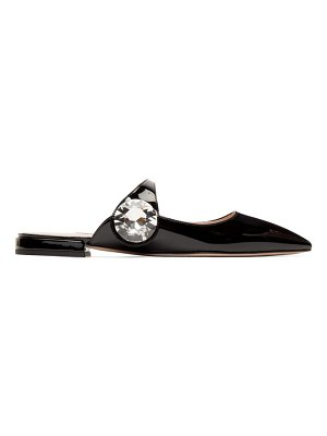 Miu Miu black patent slippers