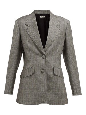 Miu Miu prince of wales checked wool blazer