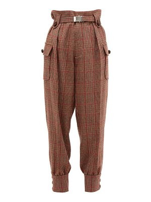 Miu Miu prince of wales checked wool blend trousers