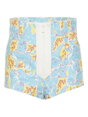 Miu Miu printed stretch cotton shorts