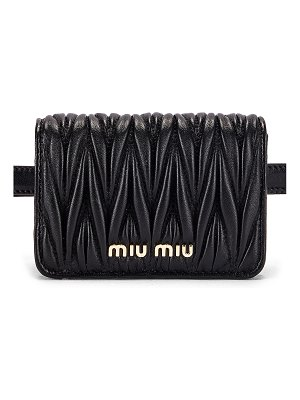 Miu Miu quilted belt bag