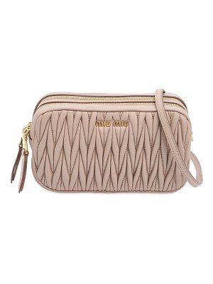 Miu Miu Quilted leather camera bag