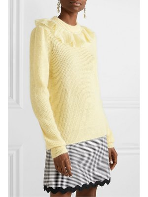 Miu Miu ruffled mohair-blend sweater