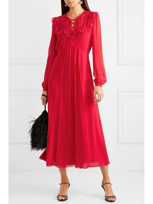 Miu Miu ruffled silk-georgette midi dress