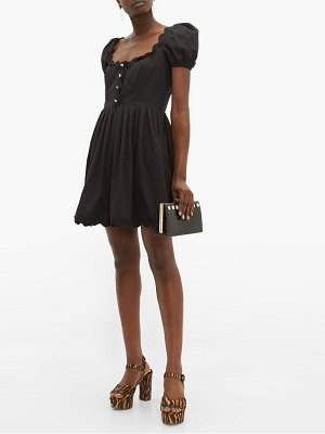 Miu Miu scallop trim cotton poplin mini dress