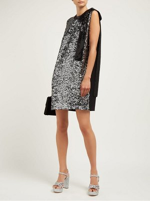 Miu Miu sequinned crepe mini dress