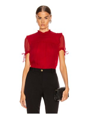 Miu Miu short sleeve chiffon top